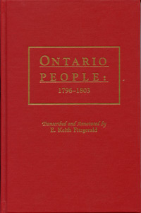 Ontario People: 1796-1803