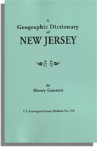 Geographic Dictionary of New Jersey