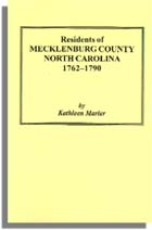Residents of Mecklenburg County, North Carolina, 1762-1790