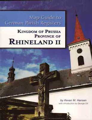 Damaged-Map Guide To German Parish Registers Vol 12 - Rhineland II - RB K
