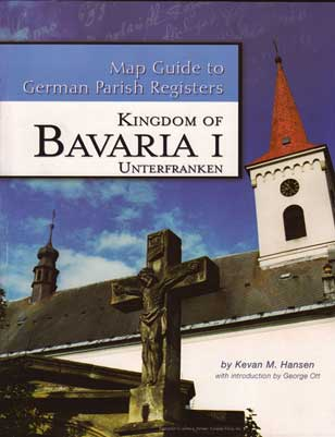 Damaged-Map Guide to German Parish Registers Vol 14 - Bavaria I - RB Unterfranken