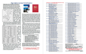 Product Description Flyer: Map Guide to German Parish Registers - Description & Order Form  - FREE PDF