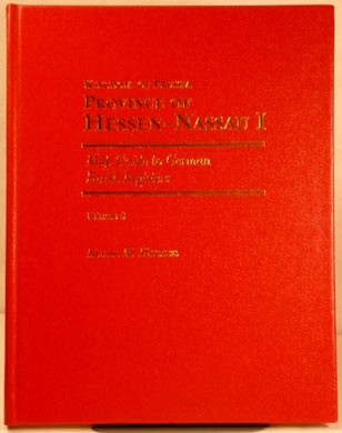 Map Guide to German Parish Registers Vol 9 - Hessen-Nassau I - RB Wiesbaden - Hard Cover