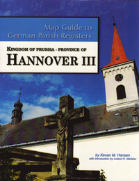 Map Guide to German Parish Registers Vol 32 - Kingdom of Prussia, Province of Hannover III, RB Aurich & Osnabrück