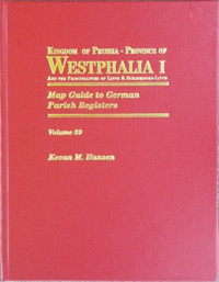 Map Guide to German Parish Registers Vol. 39 - Kingdom of Prussia - Province of Westphalia I and the Principalities of Lippe & Schaumburg-Lippe - Hard Cover