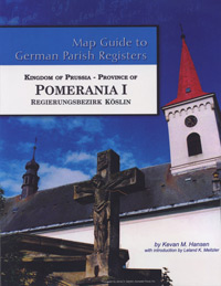 Map Guide to German Parish Registers Vol. 49 – Kingdom of Prussia, Province of Pomerania I, Regierungsbezirk Köslin