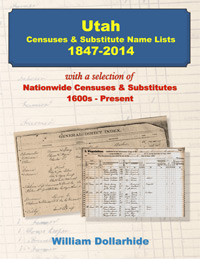 Utah Censuses & Substitute Name Lists 1847-2014