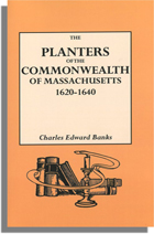The Planters of the Commonwealth in Massachusetts, 1620-1640