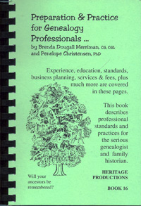 Preparation & Practice for Genealogy Professionals