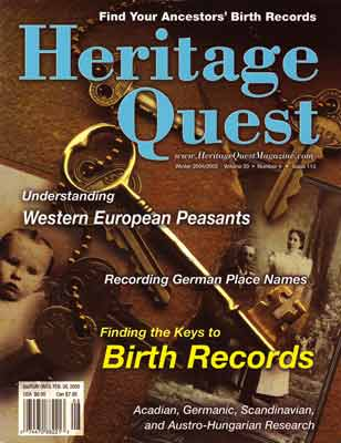 Heritage Quest Magazine Winter 2004/2005 Issue 112