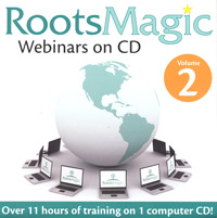 RootsMagic Webinars on CD, Volume 2